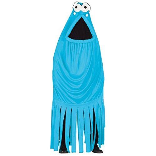Blaues Monster Kostüm für Erwachsene Gr. M/L, Größe:L