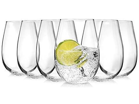 Tivoli de verres 6 pièces | Capacité 500 ml | parfaite plaisir d'hydratation de haute qualité et Exceptionnellement designten Verres