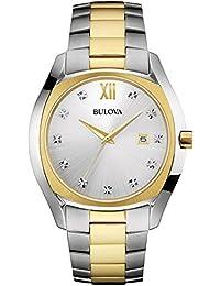 Bulova Reloj Analogico para Hombre de Cuarzo con Correa en Acero Inoxidable 98D125