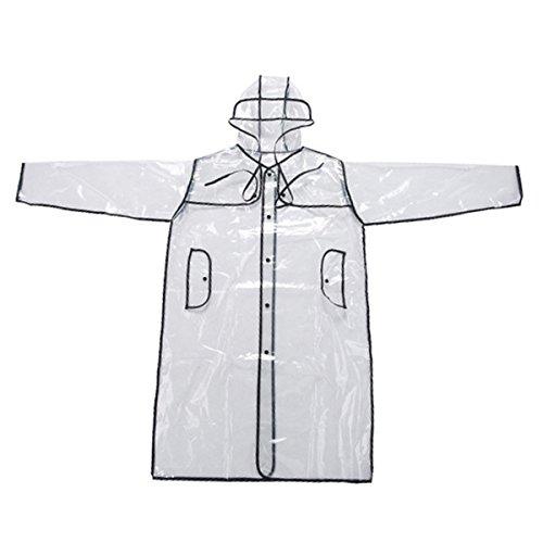 Transparent durchsichtig Unisex Regenmantel Regenjacke