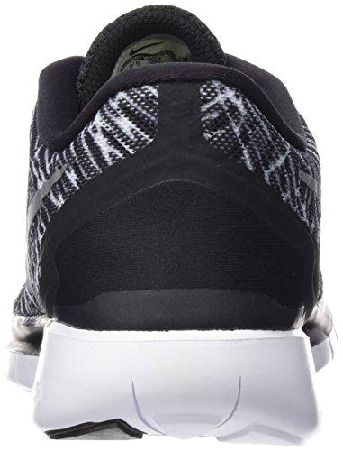 Nike Wmns Free 5.0 Print, Scarpe da Corsa Donna Multicolore (Black/White-White)