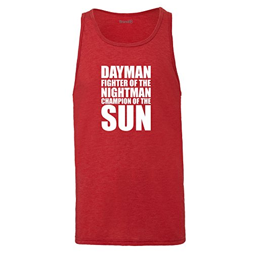 Brand88 - Dayman Fighter Of The Nightman, Unisex Jersey Weste Rot Meliert