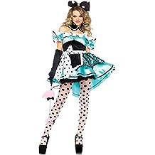 dc3ef765170a7 Ambiguity Halloween Costume Lady Elf de Lutin Vert Fleur fée Verte  Halloween Noël Costume Jupe de