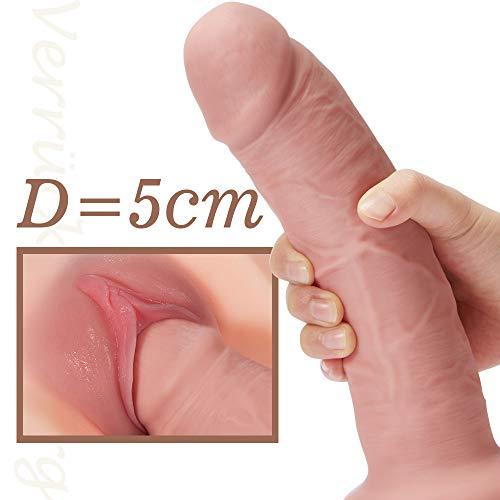 Realistische Dildo XL Klassische Dildo Sexspielzeug für Frauen Real Dong mit starken Nature Dildo Saugnapf Anal Plug Penis Weiches Silikon größe Eichel 21×5CM