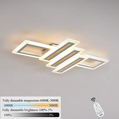 LED dimmbar Deckenleuchte Deckenlampe Deckenbeleuchtung Hängeleuchte Designlampe 3000K-6000K Farbtemperatur Hellighkeit stufenlos einstellbar mit Fernbedienung