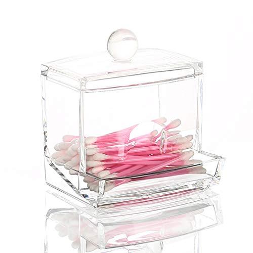 Caisse de Rangement Cosmétique Transparente D'organisateur de Maquillage pour le Rouge À Lèvres, Brosses, Coton-tige