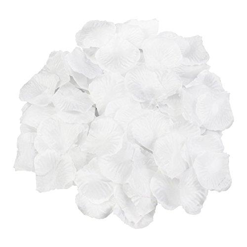 Syoo 1000 x rose artificiali foglie rose fiori confetti, decorazione romantica accessori per matrimonio compleanno festa festa san valentino fidanzata appuntamento proposta matrimonio, bianca