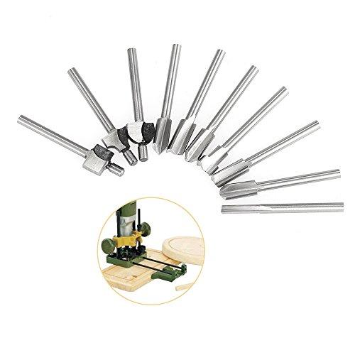 Dateien Werkzeuge 6 Stücke High Speed Stahl Routing Fräser Burr Rotary Tools Anzug Holz Carving Gravur Bohren Dreh Werkzeuge Angenehme SüßE