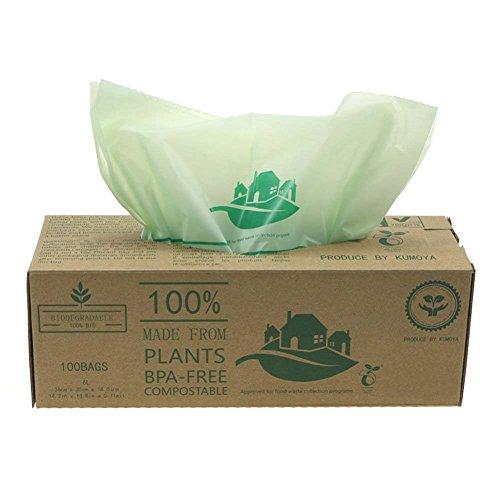 *BioBag kompostierbarer Küchenmüllsack 6/10 Liter, biologisch abbaubar grün kompostieranleitung, Einlegesack für die Biotonne 100 Müllsäcke (6L)*