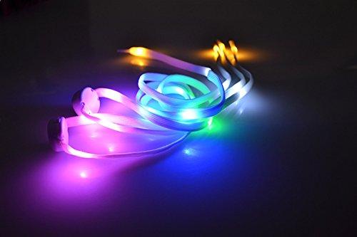 Laixin led lacci delle scarpe luminosi bambini, 1 paio nylon scrape lacci con 3 modalità lampeggiante per ballo hip-hop bicicletta corsa escursionismo pattinaggio sport (8 generazione) - multicolored