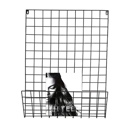 Porte-revues Support de Mur de Magasin étagère de barrière de Fer Mur de Cadre de Mur de Photo de Grille étagère accrochante de Chambre à Coucher de Mur