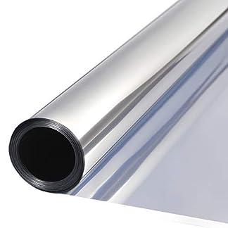 TTMOW Vinilo Pet Película Adhesiva Lámina de Espejo para Ventanas Cristal Unidireccional Protector de Privacidad Anti 99% UV y Anti 85% IR para Hogar y Oficina (40 * 200cm)
