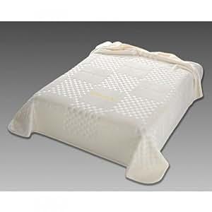 Pierre Cardin étui à rabat de luxe Couvre-lit toucher lisse et soyeux, 220x 240cm Chambre couverture couverture Naturale 29na655