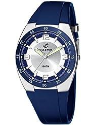 Calypso 6044/5 - Reloj de caballero de cuarzo, correa de goma color azul claro