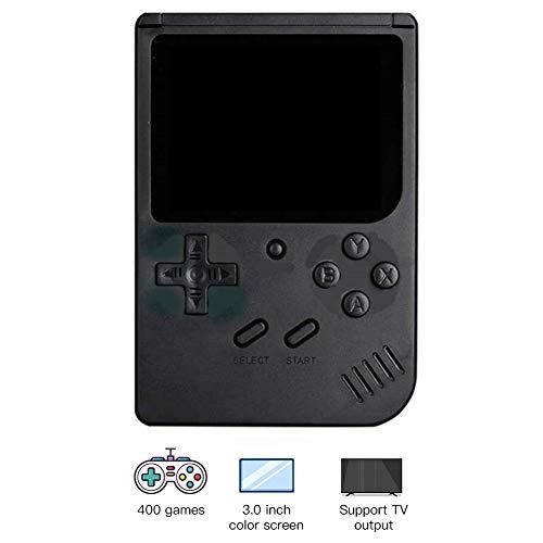 JoyFan Retro tragbare Mini-Handheld-Spielekonsole 8-Bit 3,0-Zoll-Farb-Game-Player Eingebaute 400 Spiele