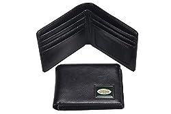 NFL New York Jets Men's Leather RFiD Safe Travel Wallet, 4.25 x 3.25