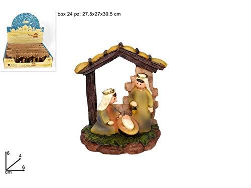 Due esse christmas s.r.l. nativita' 6 cm art. 57073a mini personaggi presepe miniature