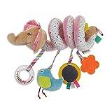 TT GO Wiegenpaket - Transportklingel, Multifunktionales Musikbettklingel-Rasselspielzeug, Geeignet Zum Aufhängen Von Babykorb-Spielzeugspiralen, Geeignet Für Neugeborene Im Alter Von 0-3 Jahren