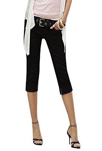 Ybenlover Damen Skinny Jeans Hose Caprihose Slim Fit Denim Leichte Sommerhose - Leichte Stretch-leggings
