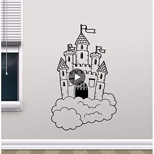 Dwqlx Abnehmbare Burg In Wolken Wandtattoo Kindergarten Wandbild Kinder Schlafzimmer Dekor Magic Kingdom Vinyl Aufkleber Kinderzimmer Dekor 42 * 68 Cm