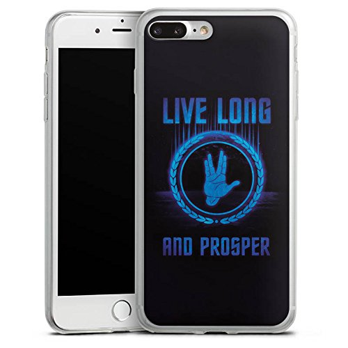 Apple iPhone 8 Plus Slim Case Silikon Hülle Schutzhülle Startreck Statement Sprüche Silikon Slim Case transparent