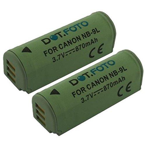 2x-dotfoto-qualitatsakku-fur-canon-nb-9lnb-9lh-37v-870mah-garantie-2-jahre-canon-ixus-500-hs510-hs10