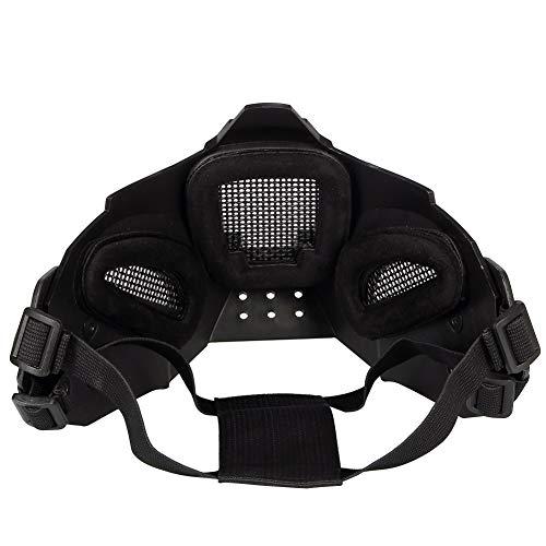MAKE FINE Outdoor Jagd Maske Halbmaske Paintball Helm Mit Maske Sicherheitsmaske Halloween Charakter Mitternacht Kostüm Party - Charakter Kostüm Für Partys