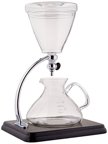 Yama Glass Yama Glass Silverton Coffee/Tea with Stainless Cone Filter, Clear by Yama Glass