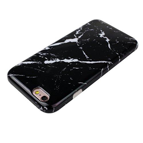 iPhone 6 Plus/6S Plus Bumper Case, iPhone 6 Plus Marmor Handyhülle, iPhone 6S Plus Marmor Handyhülle, Marble Marmor Design, Moon mood® Hülle für Apple iPhone 6 Plus/6S Plus 5.5 Zoll Weich Silikon TPU  Marmor 13