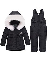 e6b3aa7114f76 YFCH Baby Girls Boys 2-Piece Snow Bib Pants and Ski Suit Jacket Winter Warm