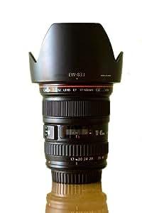 EW-83J Pare-soleil d'objectif pour Canon EF-S 17-55mm f/2.8 ISU,USM,Eos 60D,50D,40D,7D,5D,1Ds,600D,550D,500D,450D.