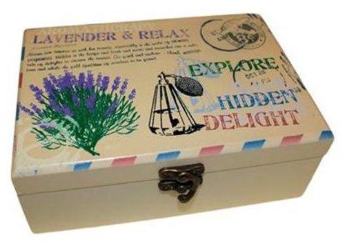 Aromathérapie Huile Essentielle Parfum huile Boite Pour 24 Bouteille (Lavande Style Vintage)