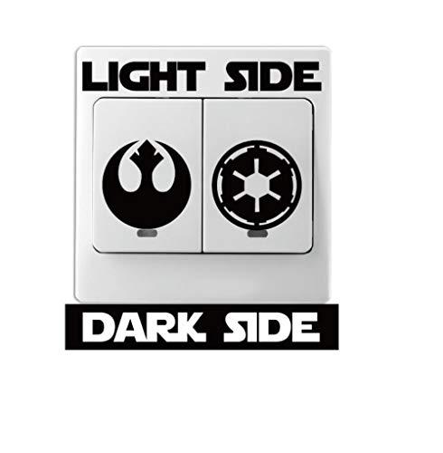 Tnieg autoadesivo della parete del vinile del fumetto di interruttore della luce adesivo decorazione domestica film classico star wars lato oscuro 9 * 9cm