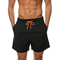 155b1f060d Men's Beach Shorts Quick Dry Waterproof Sports Shorts Bathing Suit Swim  Trunks