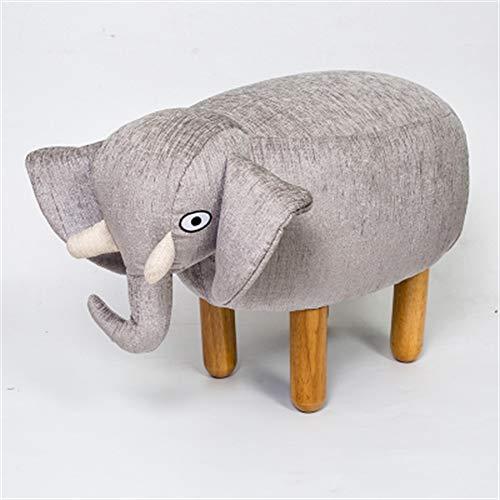 CHENDZ Massivholz Kreative Tier Elefant Design Sofa Hocker Waschen Hocker Kinder Schuh Ändern Hocker (Size : Large)