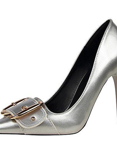GS~LY Damen-High Heels-Kleid-Kunstleder-St枚ckelabsatz-Abs盲tze / Spitzschuh / Geschlossene Zehe-Schwarz / Lila / Rot / Wei