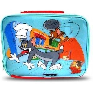 Kinder/Jungen Tom und Jerry Lunchbox Brotdose/Tasche (25cm x 20cm) (Blau/Rot)