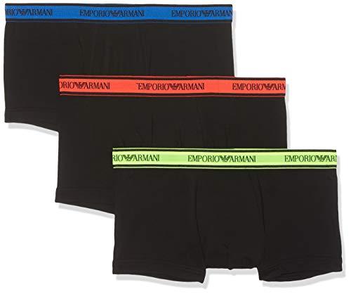 Emporio Armani Underwear, Herren Unterhosen 3er Pack,Schwarz (NERO 50620), Large