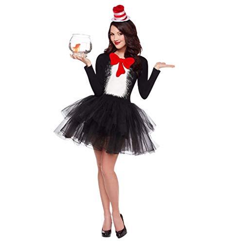 Kostüm Teufel Anzug Schwarzer - Teufel Kostüm Damen Bekleidung Anzug Cosplay Halloween Festival Gothic Schwarz Katze Mädchen Magier Europa Amerika Rock