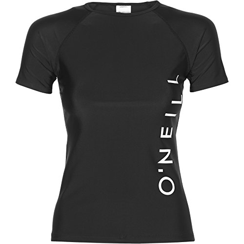 O'Neill Damen Sports Logo Skin Bademode Mit Uv-Schutz Shirt, Black Out, L
