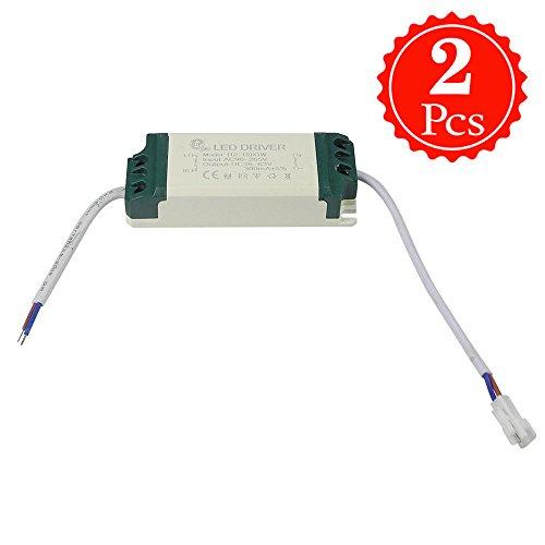 Granvoo 2-er Pack LD-009 12-18W AC 90-265V DC 36-63V Überspannungschutz Konstantstrom LED-Treiber Hochtemperaturbeständiger Kunststoff Für LED-Streifen-Licht Wand-Licht Downlight -