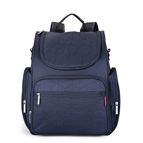 Wasserdicht Windel Rucksack, multifunktional Wickeltasche mit Kinderwagengurt, Baby Wickeltasche für Reisen, Shopping