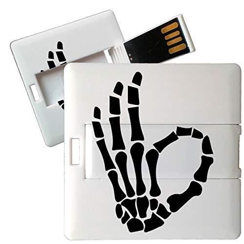 My Custom Style Pen Drive USB Kollektion #Halloween_A#4/8/16 Gb Cubo Card_8 GB Halloween-OK Scheletro