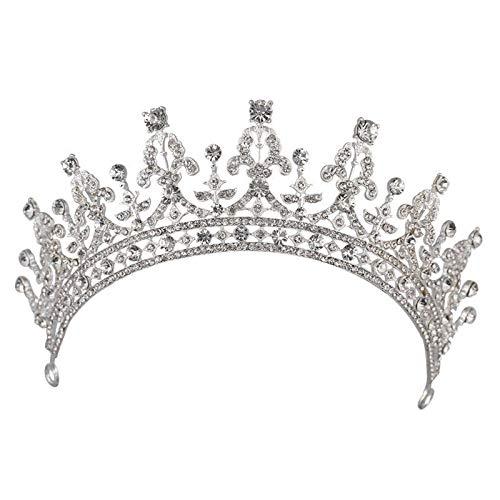 ZXF Mode weiße Braut Krone Tiara Königin Mode schöne große Krone High-End-Temperament Hochzeit Zubehör Haarreife