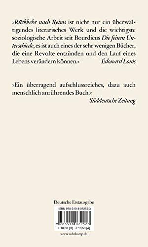 Livres Couvertures de Rückkehr nach Reims (edition suhrkamp)