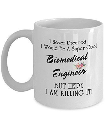 I Never Dreamed I Would Be A Super Cool Biomedical Engineer But Here I Am Killing It Perfect Biomedical Engineer Gifts Ideas For Women Funny Biomedical Engineer Coffee Mug Tea Cup 11 OZ White