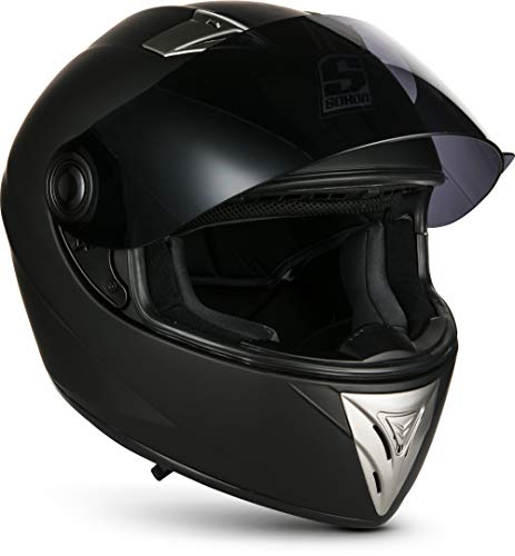 SOXON ST-550 Fighter · Integral-Helm Scooter-Helm Urban Motorrad-Helm Roller-Helm Cruiser Sport Helmet Sturz-Helm · ECE zertifiziert · inkl. Sonnenvisier · inkl. Stofftragetasche · Schwarz · XS (53-54cm) - 5