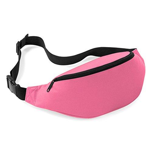 Praktische Brusttasche Hüfttasche Bauchtasche für Geld, Schlüssel und Handys usw. Sporttasche Rosa