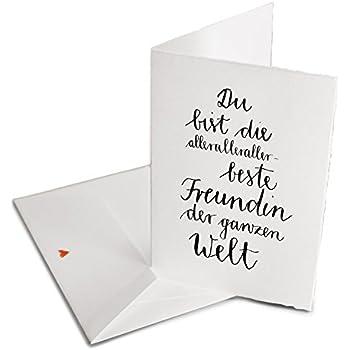 Spruch Valentinskarte Gluckwunschkarte Fur Die Allerbeste Freundin