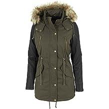 Urban Classics Damen Jacke Jacke Leather Imitation Sleeve Parka 39aef17de9